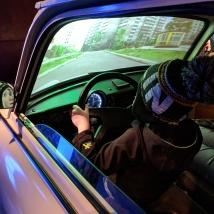 Driving a Trabi around East Berlin